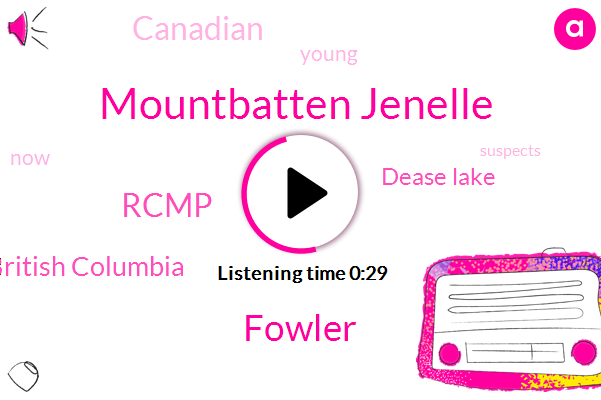 Rcmp,British Columbia,Mountbatten Jenelle,Dease Lake,Fowler
