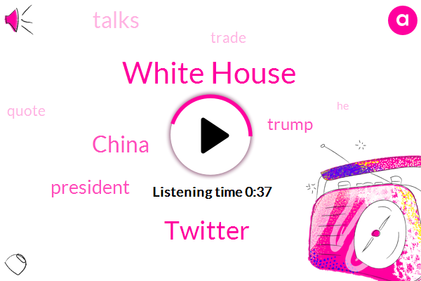 Listen: Trump says China trade talks went very well today