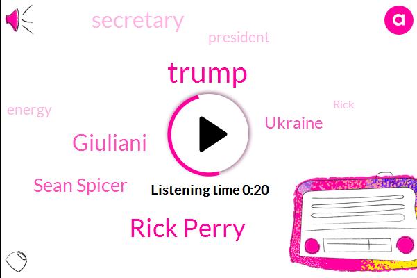 Listen: Rick Perry tells Trump he's resigning as energy secretary