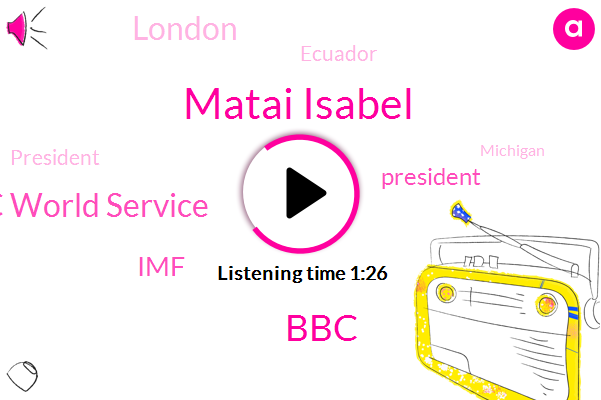 Ecuador,Matai Isabel,Bbc World Service,IMF,BBC,President Trump,London,Michigan,Kitale Recommissioned,Twelve Days,Two Weeks