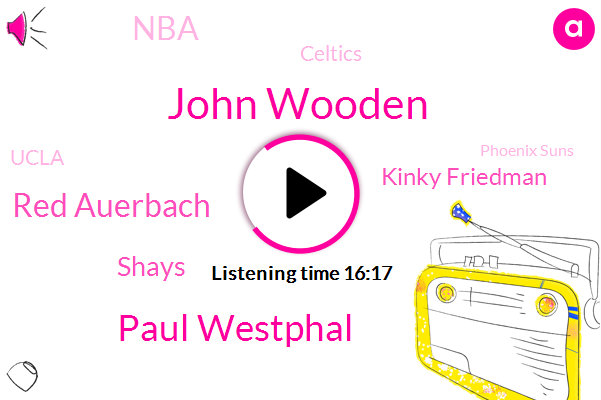Basketball,NBA,Celtics,John Wooden,Ucla,Paul Westphal,Israel,Phoenix Suns,Boston Celtics,Red Auerbach,California,Bible,Shays,Kinky Friedman,Tennis,Twitter,Malibu Encino,Sixers,Boston