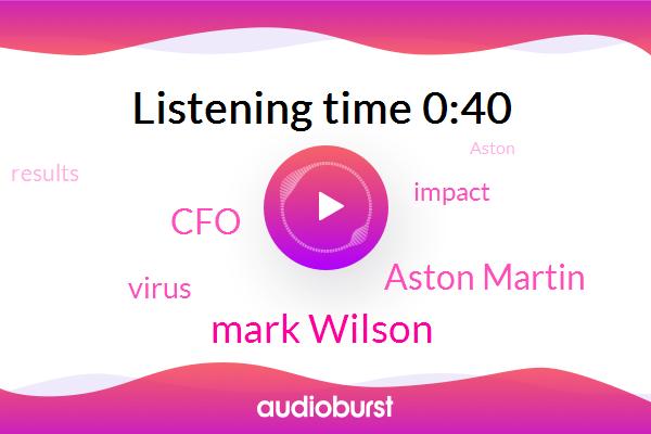 Aston Martin,CFO,Mark Wilson