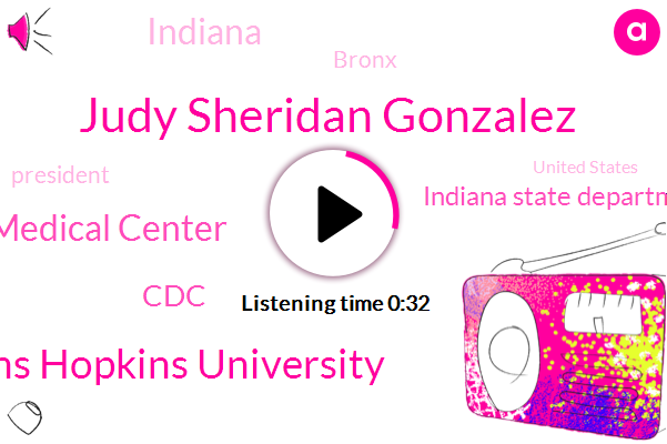 Johns Hopkins University,Indiana,Montefiore Medical Center,Bronx,Judy Sheridan Gonzalez,President Trump,CDC,United States,Indiana State Department Of Health,New York