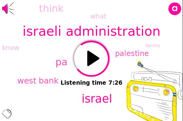 PA,Israel,West Bank,Israeli Administration,Palestine