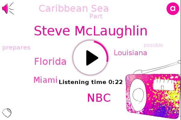 Steve Mclaughlin,Caribbean Sea,NBC,Miami,Louisiana,Florida