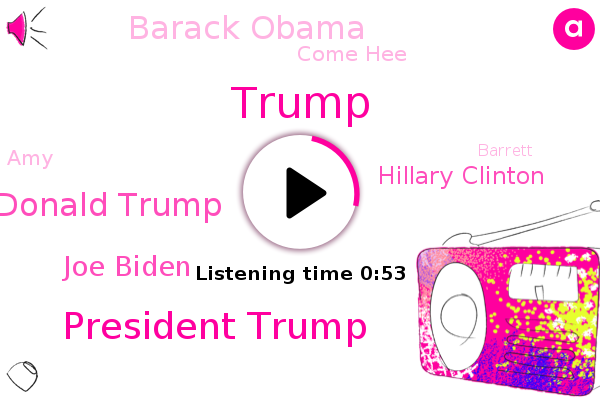 President Trump,Donald Trump,Joe Biden,Hillary Clinton,Barack Obama,Come Hee,Deplorables,Hollywood,AMY,Barrett,Writer