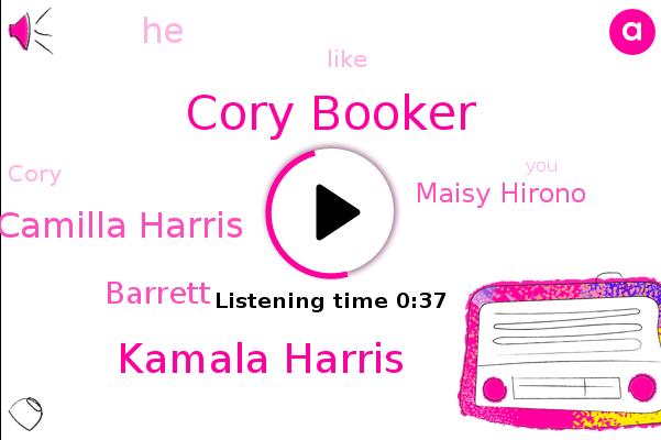 Cory Booker,Kamala Harris,Camilla Harris,Barrett,Maisy Hirono