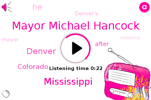 Mayor Michael Hancock,Mississippi,Denver,Colorado
