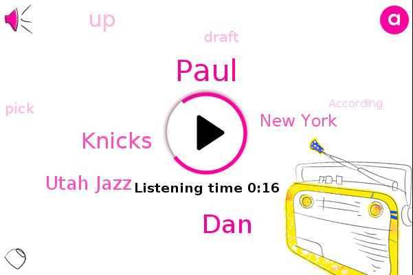 Knicks,DAN,Paul,Utah Jazz,New York