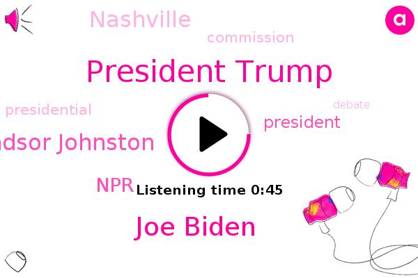 President Trump,Joe Biden,Windsor Johnston,NPR,Nashville