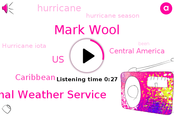 Hurricane Season,Mark Wool,Hurricane,Hurricane Iota,National Weather Service,United States,Caribbean,Central America
