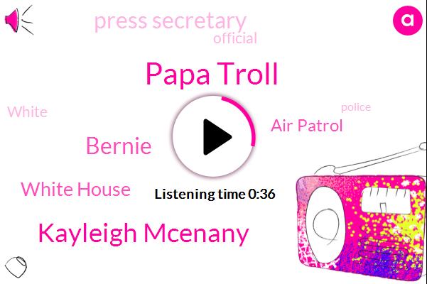 Papa Troll,White House,Kayleigh Mcenany,Air Patrol,Press Secretary,Bernie,Official