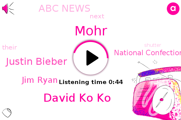 David Ko Ko,National Confectioners Association,Justin Bieber,Abc News,Mohr,Jim Ryan