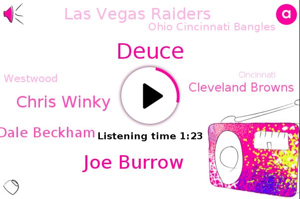 Cleveland Browns,Joe Burrow,Las Vegas Raiders,Ohio Cincinnati Bangles,Football,Chris Winky,Westwood,Deuce,Dale Beckham,Cincinnati