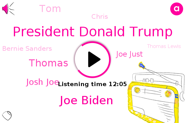 President Donald Trump,Joe Biden,United States,Thomas,Josh Joe,Joe Just,China,TOM,President Trump,Chris,Bernie Sanders,Thomas Lewis,Chris Wallace,Twitter,London Thomas,America,Chris China,Thomas Point,Christie