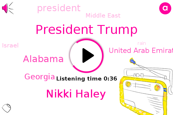 President Trump,Alabama,Nikki Haley,United Arab Emirates,Middle East,Georgia,Israel
