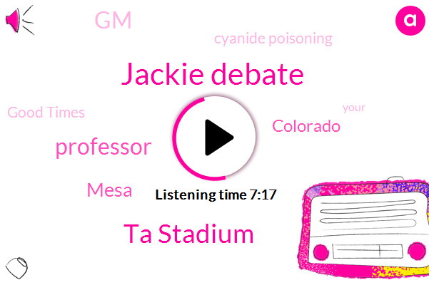 Professor,Murder,Cyanide Poisoning,Jackie Debate,Mesa,Colorado,Ta Stadium,GM,Good Times