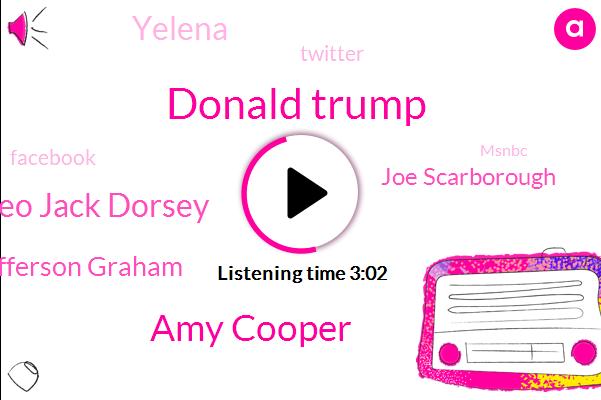 Twitter,Donald Trump,Amy Cooper,Ceo Jack Dorsey,Washington Post,Facebook,Jefferson Graham,Editor,Joe Scarborough,Yelena,Msnbc,Raynham,White House,President Trump,Youtube