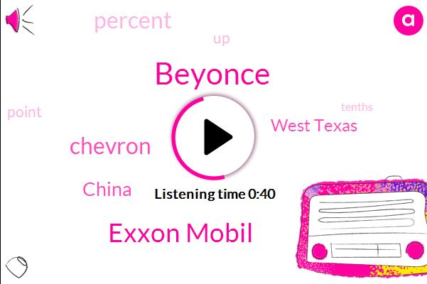 Beyonce,China,West Texas,Exxon Mobil,Chevron