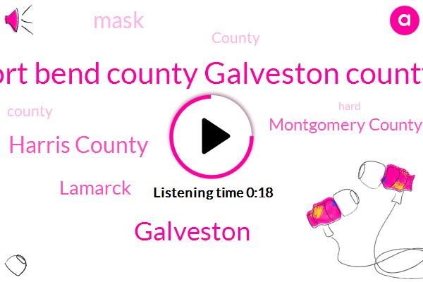 Harris County,Galveston,Lamarck,Fort Bend County Galveston County,Montgomery County