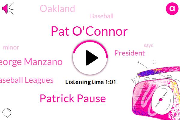 Baseball,National Association Of Professional Baseball Leagues,President Trump,Pat O'connor,Patrick Pause,George Manzano,Oakland