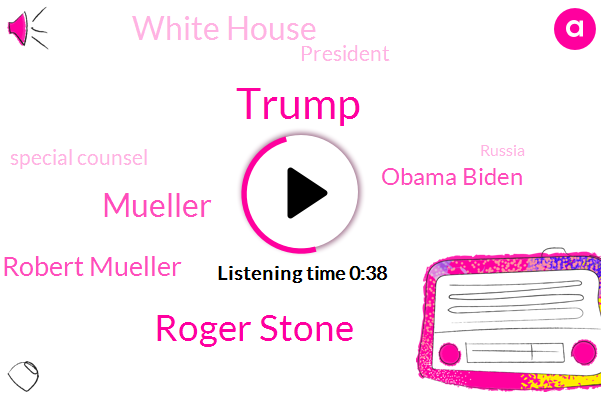 Roger Stone,Port Robert Mueller,Mueller,Donald Trump,Obama Biden,Special Counsel,President Trump,White House,Russia