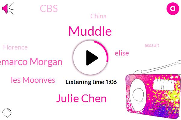 CBS,Julie Chen,Demarco Morgan,Muddle,Les Moonves,Elise,China,Florence,Assault,Harassment
