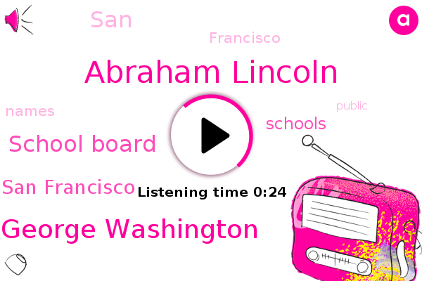 Listen: San Francisco to remove Washington and Lincoln's names, among others, from schools