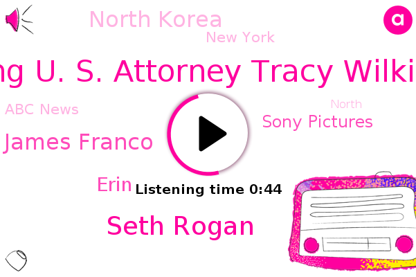 North Korea,Acting U. S. Attorney Tracy Wilkinson,Seth Rogan,James Franco,Sony Pictures,Erin,Abc News,New York