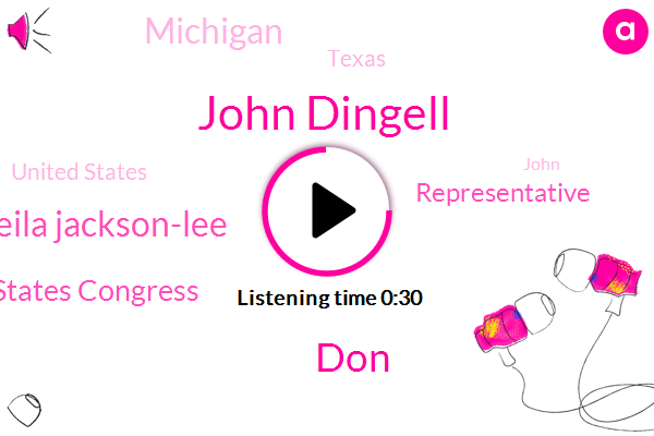 United States Congress,United States,John Dingell,DON,Sheila Jackson-Lee,Representative,Michigan,Texas