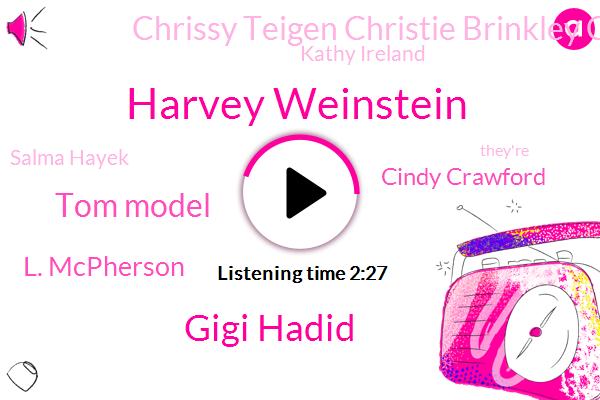 Harvey Weinstein,Gigi Hadid,Tom Model,L. Mcpherson,Cindy Crawford,Chrissy Teigen Christie Brinkley Christie Brinkley,Kathy Ireland,Salma Hayek
