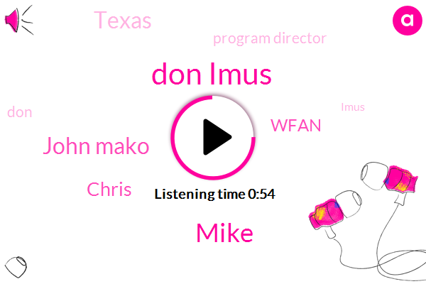 Don Imus,Texas,Wfan,Mike,John Mako,Program Director,Chris