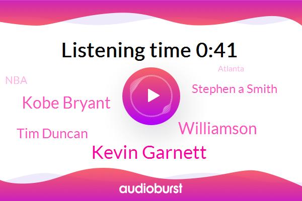 Kevin Garnett,Basketball,Atlanta,Williamson,Kobe Bryant,Tim Duncan,Springfield,OKC,Stephen A Smith,NBA