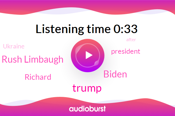 Ukraine,Donald Trump,Biden,President Trump,Rush Limbaugh,Richard,ABC