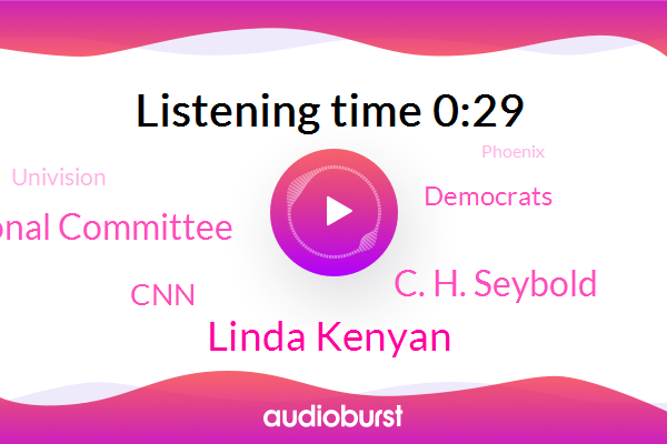 Democratic National Committee,Linda Kenyan,C. H. Seybold,Phoenix,CNN,Democrats,Arizona,Illinois,Ohio,Univision,Florida