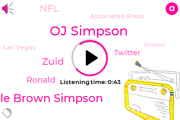 Oj Simpson,Twitter,Nicole Brown Simpson,Associated Press,Zuid,Las Vegas,NFL,Ronald,Twenty Five Years,Seventy One Year