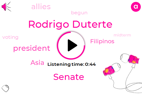 Listen: Filipinos cast vote in midterm elections crucial to Duterte