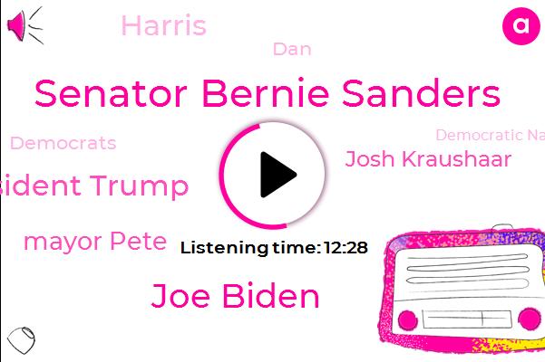 Democrats,Senator Bernie Sanders,Joe Biden,President Trump,Vice President,Democratic National Committee,Mayor Pete,Democratic Party,Josh Kraushaar,New Hampshire,Fox News,CNN,Msnbc,Senator,Harris,National Journal,DAN