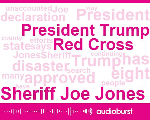 Sheriff Joe Jones,President Trump,Red Cross,Eight Baud