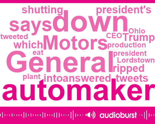 President Trump,General Motors,Mary Barra,United Auto Workers,Lordstown,Donald Trump,CEO,Ohio