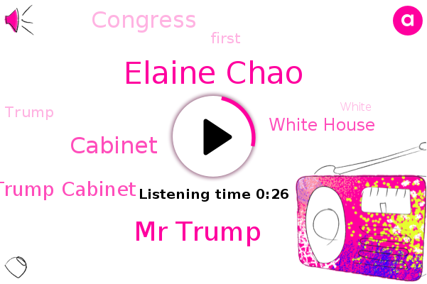 Listen: Transportation Secretary Elaine Chao becomes first Cabinet member to resign
