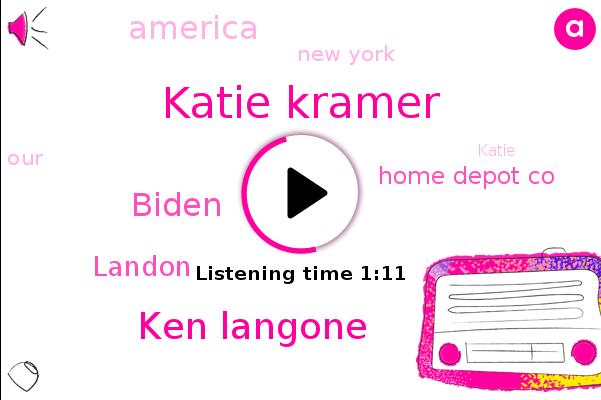 Katie Kramer,Ken Langone,Home Depot Co,America,Biden,Landon,New York