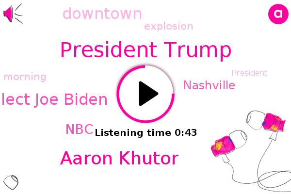Listen: Trump, Biden briefed on Nashville explosion preceded by warning
