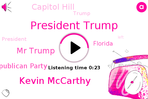 Listen: Trump and Kevin McCarthy meet in Florida