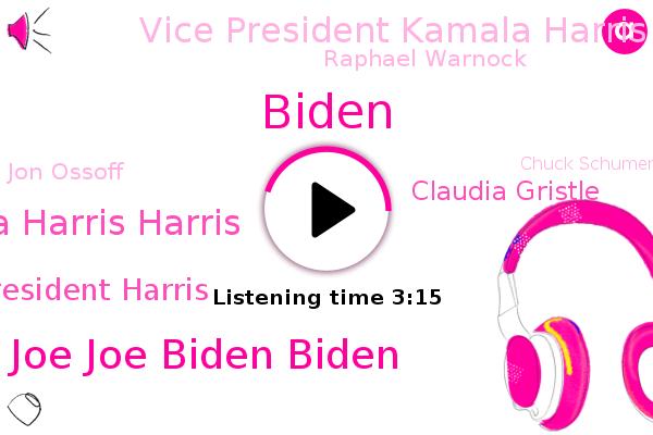 Senate,President President Joe Joe Biden Biden,Vice Vice President President Kamila Kamila Harris Harris,First Vice President Harris,Claudia Gristle,Vice President Kamala Harris,Raphael Warnock,Biden,Jon Ossoff,Georgia,Chuck Schumer,ARI,NPR,Republicans,Donald Trump,Mitch Mcconnell,Senator Joe Manchin,Lisa Murkowski,Cabinet
