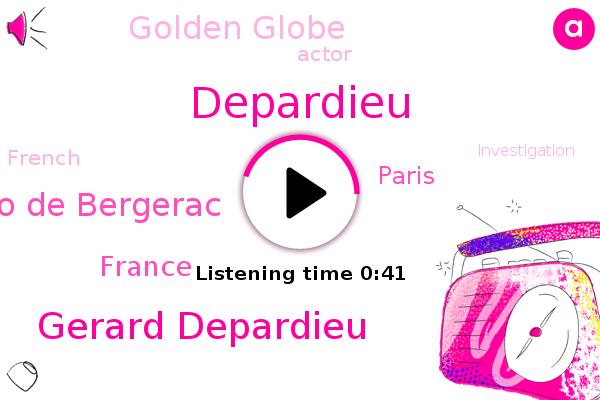 Gerard Depardieu,Depardieu,France,Paris,Cyrano De Bergerac,Golden Globe