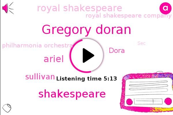 Royal Shakespeare,Gregory Doran,Shakespeare,Royal Shakespeare Company,Ariel,England,UK,Lincoln,Philharmonia Orchestra,SEC,Sullivan,Dora