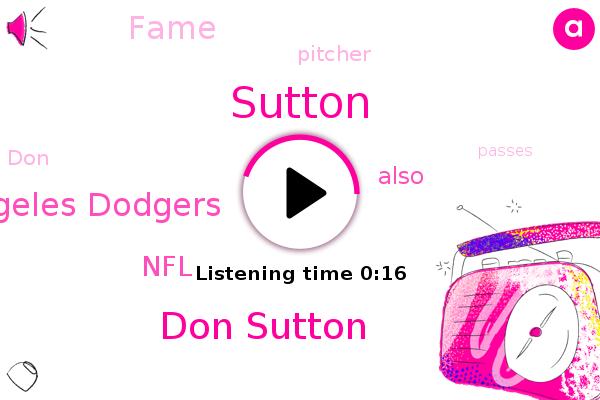 Don Sutton,Los Angeles Dodgers,Sutton,NFL