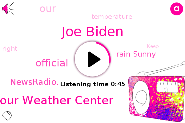 Joe Biden,Hour Weather Center,Rain Sunny,Official,Newsradio.