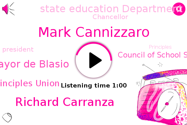 New York City Of Principles Union,Mark Cannizzaro,Council Of School Supervisors,Richard Carranza,Mayor De Blasio,Chancellor,State Education Department,President Trump